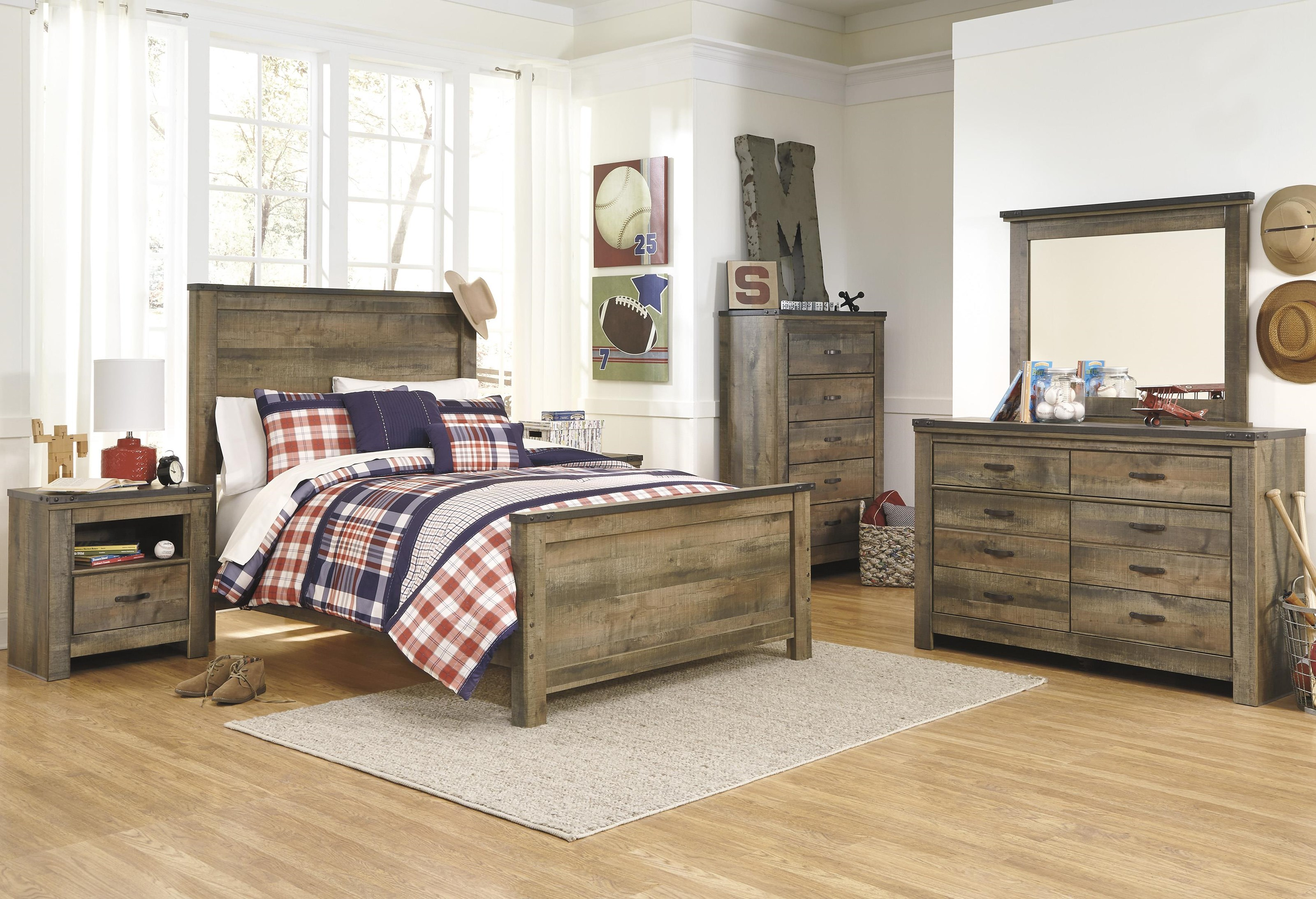 Trinell 5 Piece King Panel Bedroom Set by Signature Design by Ashley at Sam Levitz Furniture