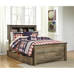 Twin Bookcase Bed with Under Bed Storage Package