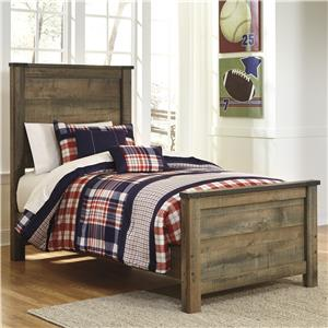 Rustic Look Twin Panel Bed