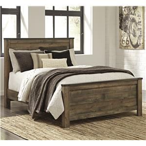 Rustic Look Queen Panel Bed