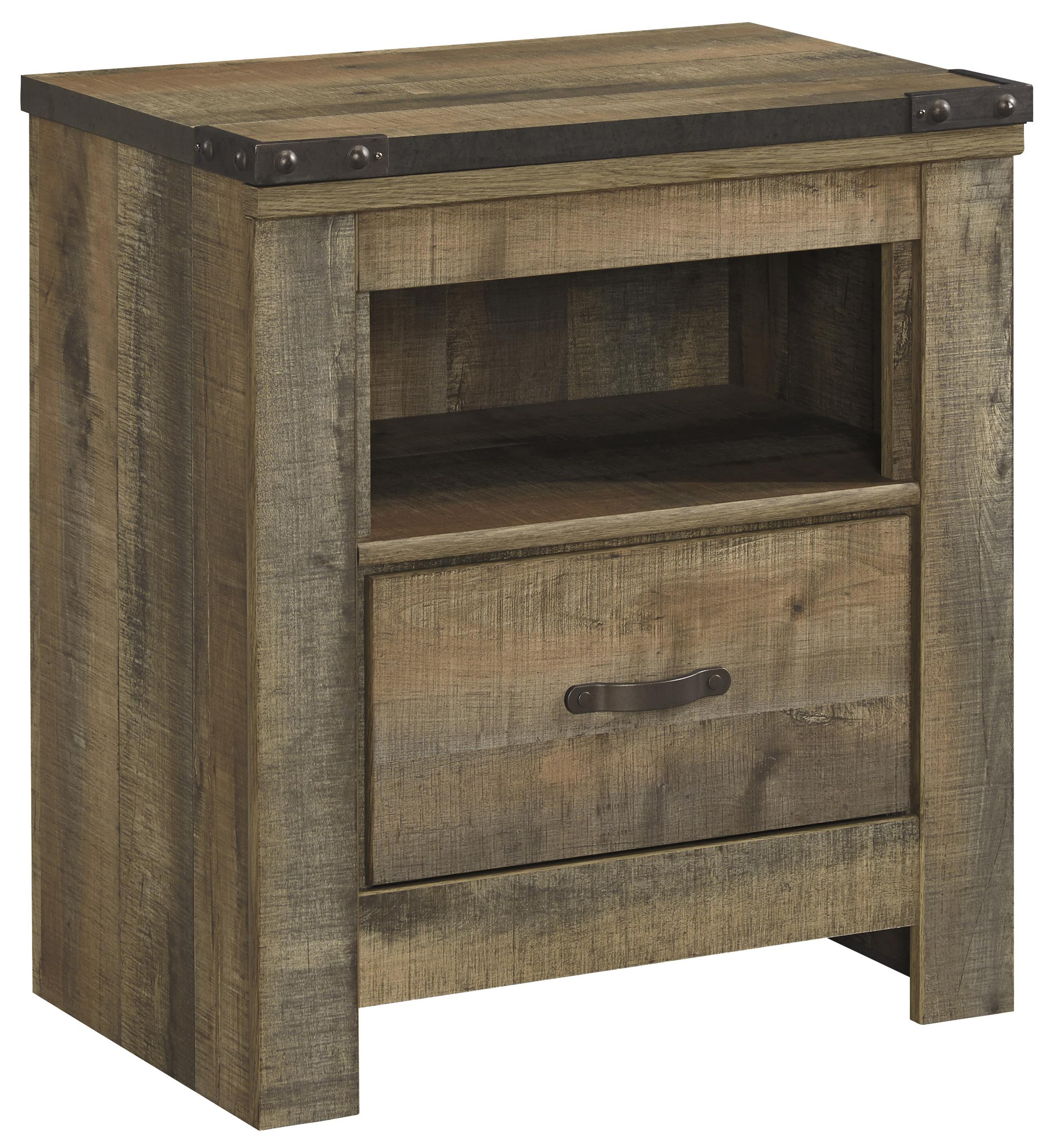 Trinell 1-Drawer Nightstand by Signature Design at Fisher Home Furnishings