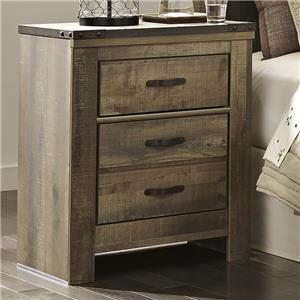 Rustic 2-Drawer Nightstand