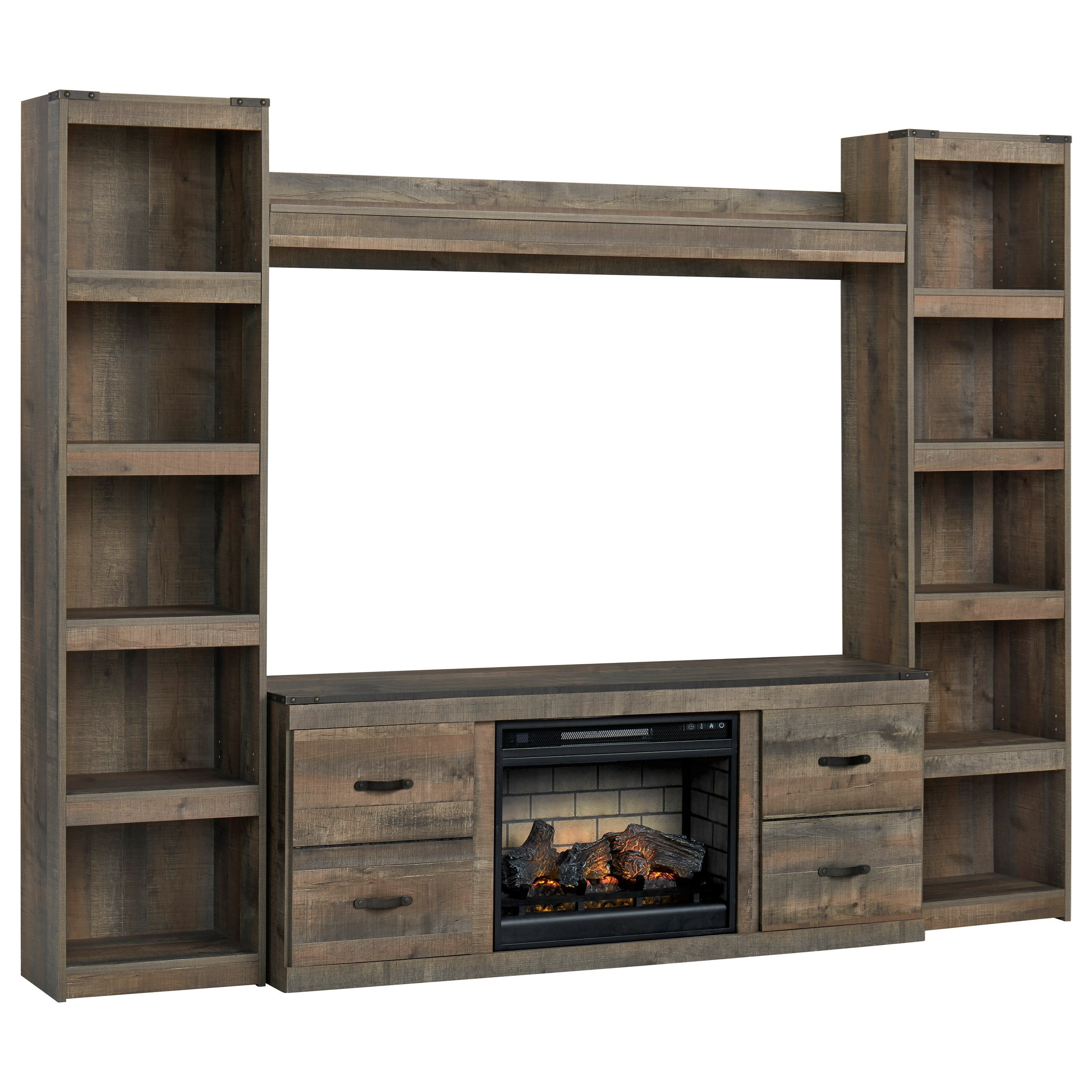 Trinell Entertainment Wall Unit w/ Fireplace by Signature Design by Ashley at Zak's Warehouse Clearance Center