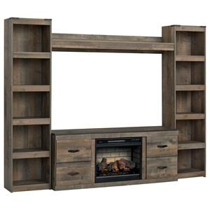 Entertainment Wall Unit w/ Fireplace