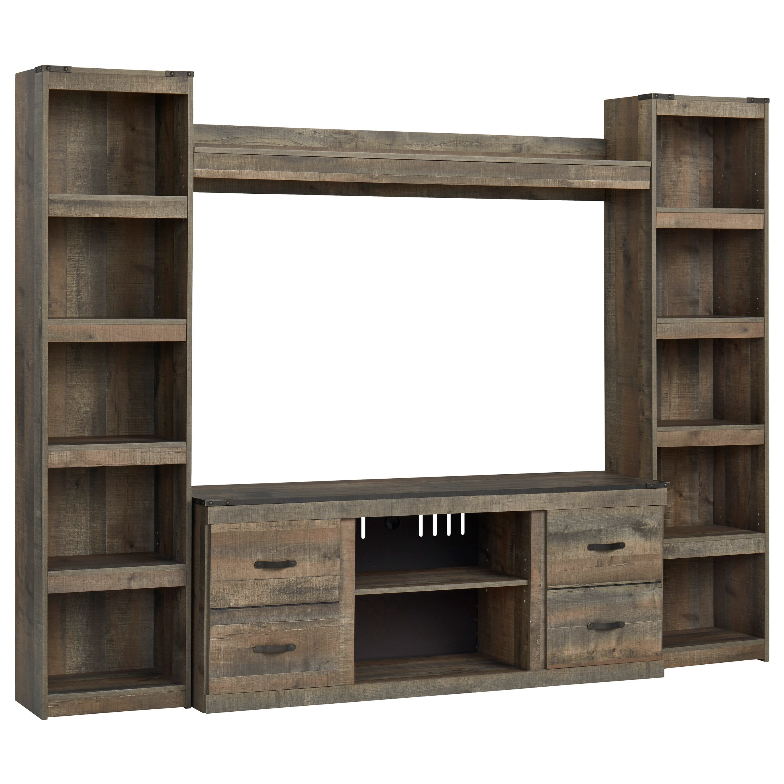 Trinell Entertainment Wall Unit w/ Piers and Bridge by Ashley (Signature Design) at Johnny Janosik