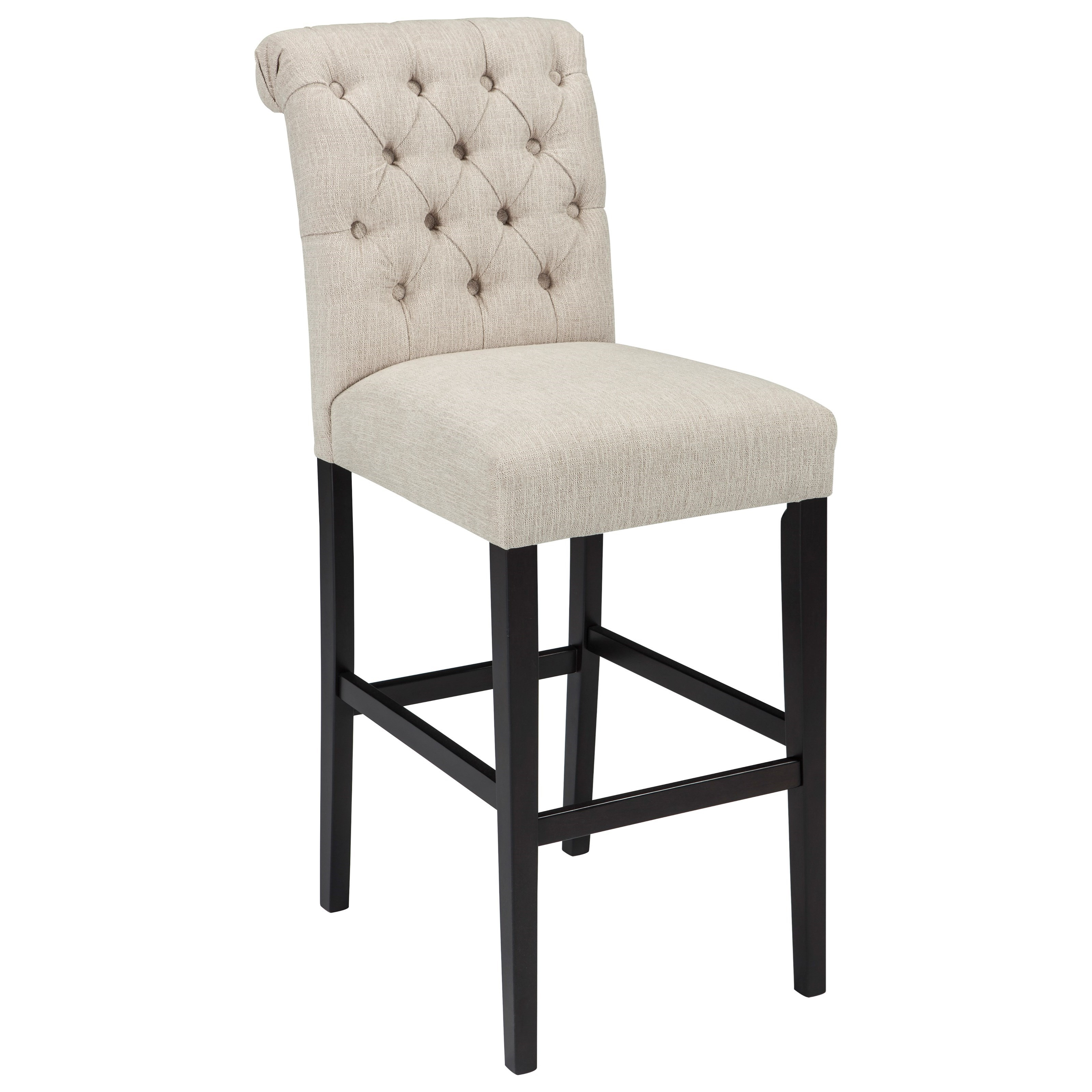 Tripton Tall Upholstered Barstool by Ashley (Signature Design) at Johnny Janosik