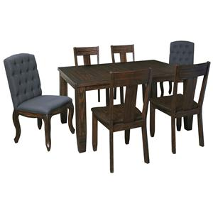 Signature Design by Ashley Trudell 7-Piece Rectangular Dining Table Set