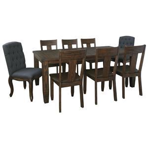 Signature Design by Ashley Trudell 9-Piece Rectangular Dining Table Set