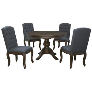Signature Design by Ashley Trudell 5-Piece Round Dining Table Set