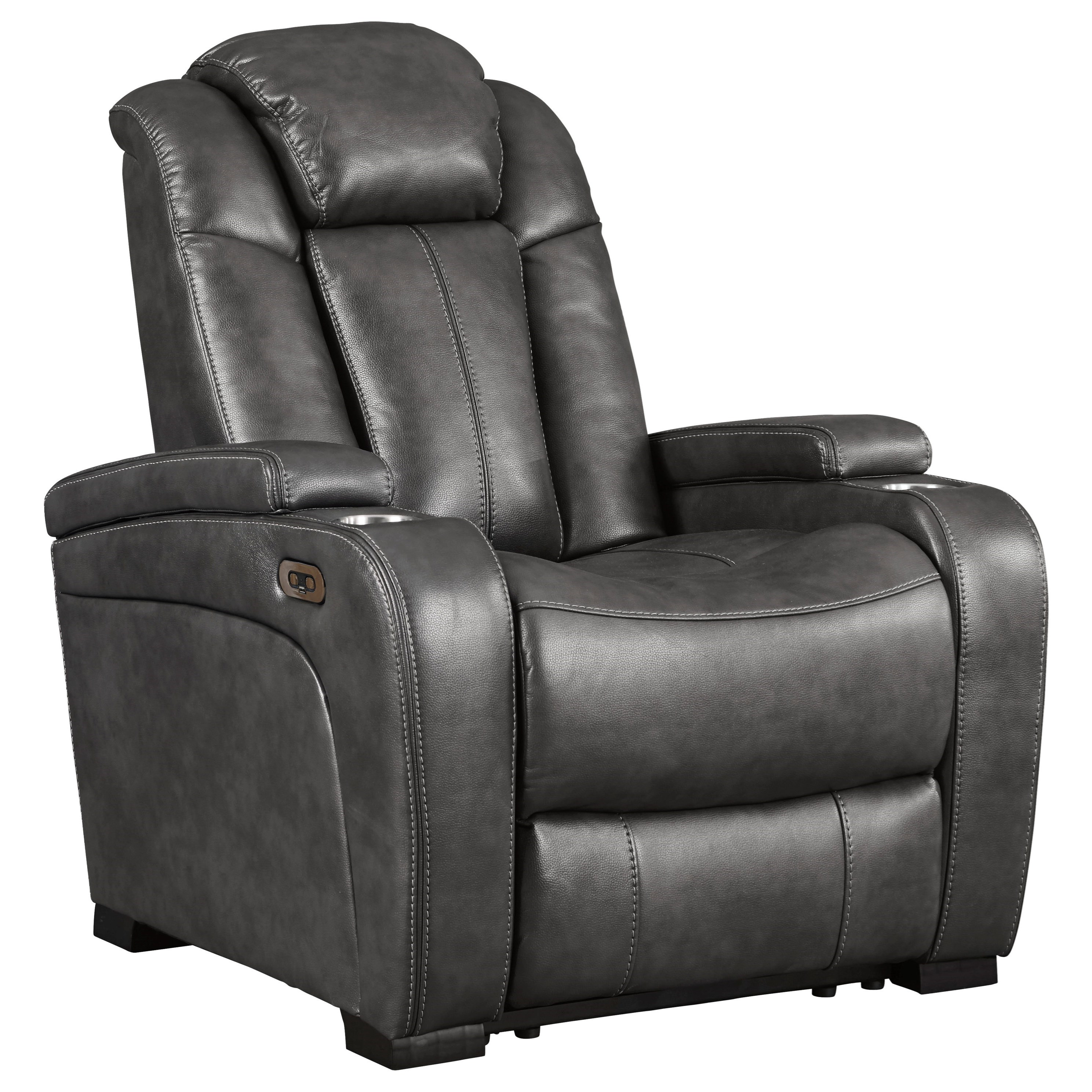 Turbulance Power Recliner w/ Adjustable Headrest by Signature Design by Ashley at Factory Direct Furniture