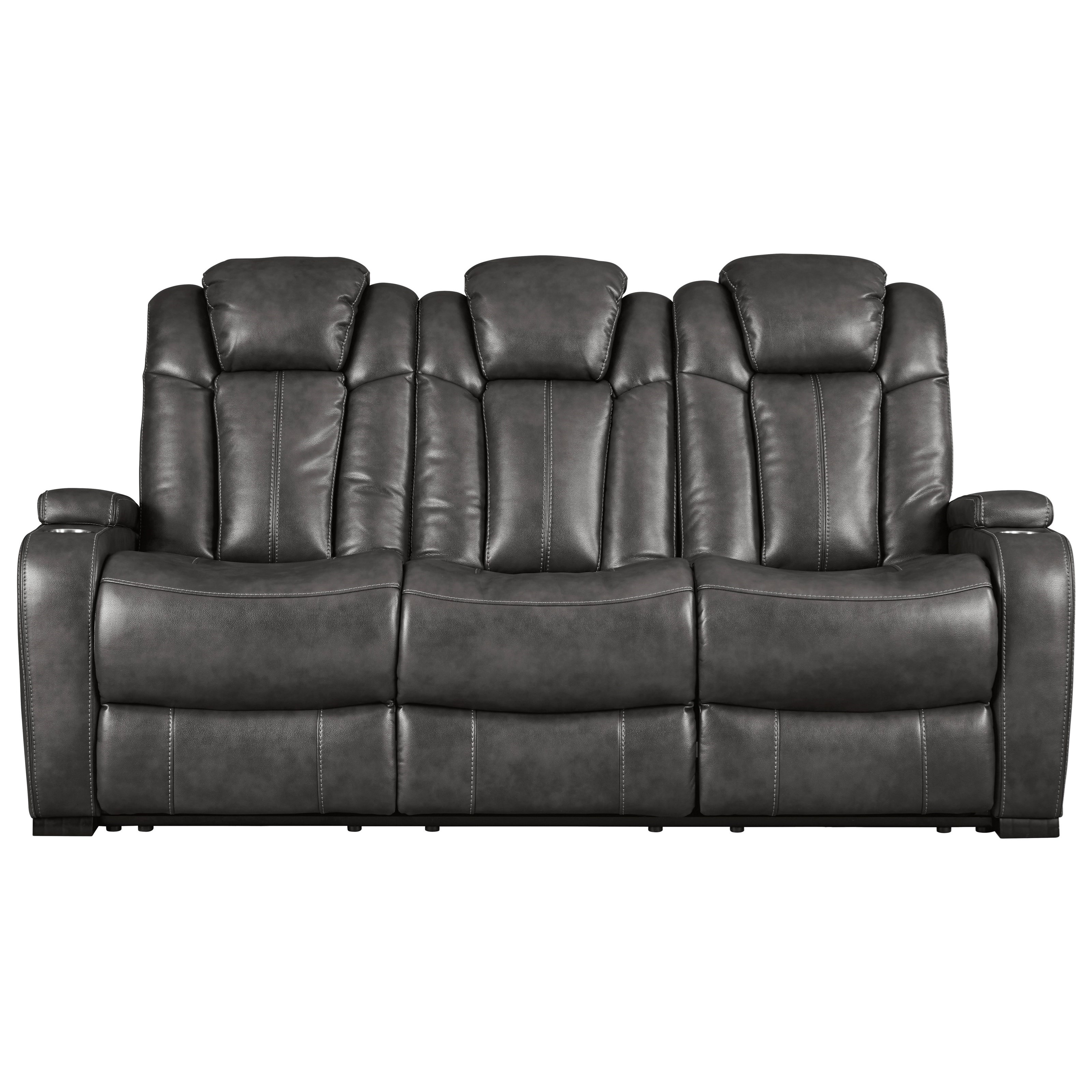 Turbulance Power Reclining Sofa w/ Adjustable Headrests by Signature Design by Ashley at Value City Furniture