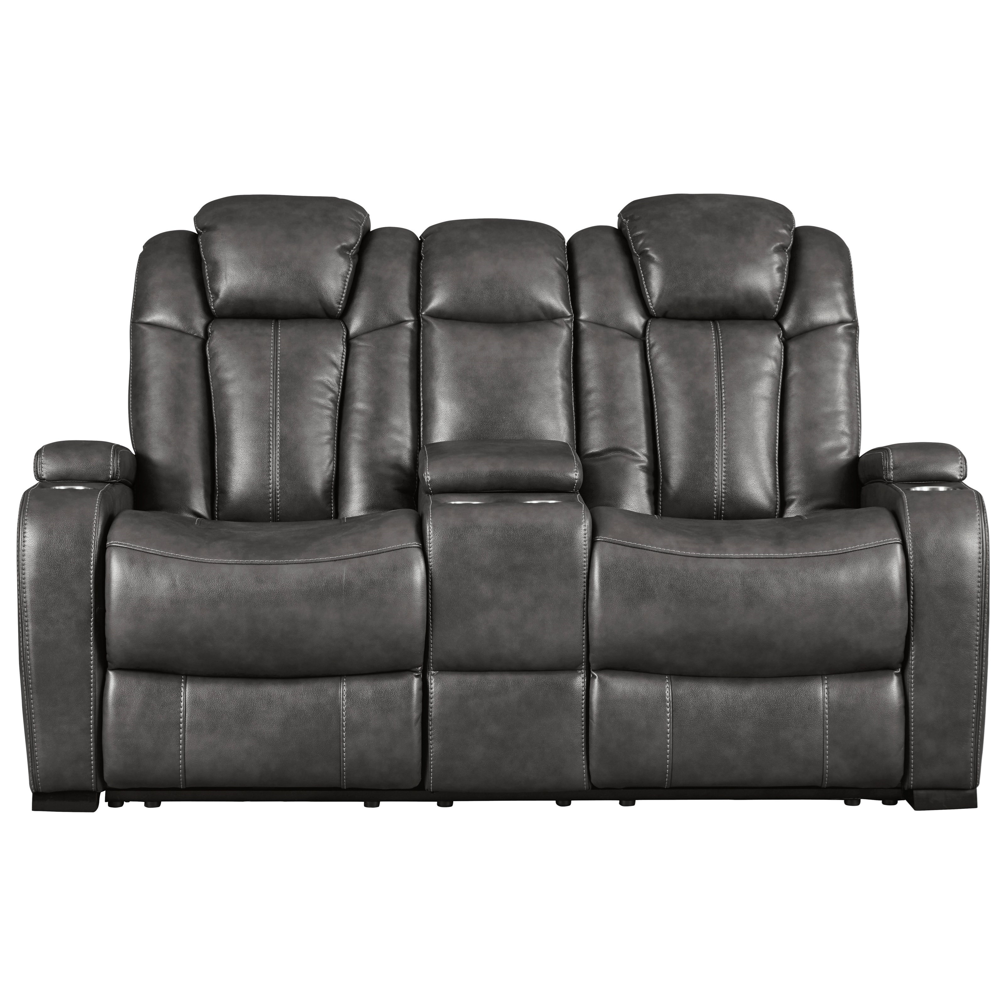 Turbulance Power Reclining Loveseat w/ Cnsl & Pwr Hdrst by Signature Design by Ashley at Northeast Factory Direct