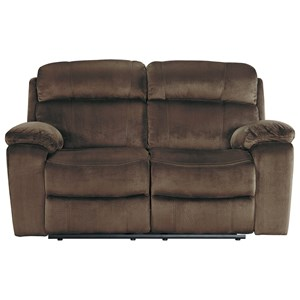 Signature Design by Ashley Uhland Power Reclining Loveseat w/ Adj. Headrest