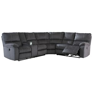 Casual Power Reclining Sectional