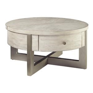 Round Lift Top Cocktail Table and Round End Table Set
