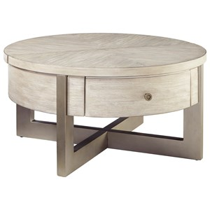 Contemporary Round Lift-Top Cocktail Table