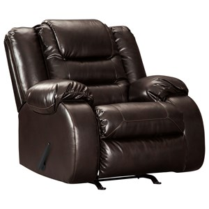 Casual Rocker Recliner with Infinite Reclining Positions