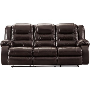 Casual Reclining Sofa with Infinite Reclining Positions