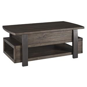 Rectangular Lift Top Cocktail, Rectangular End Table and Chair Side End Table Set