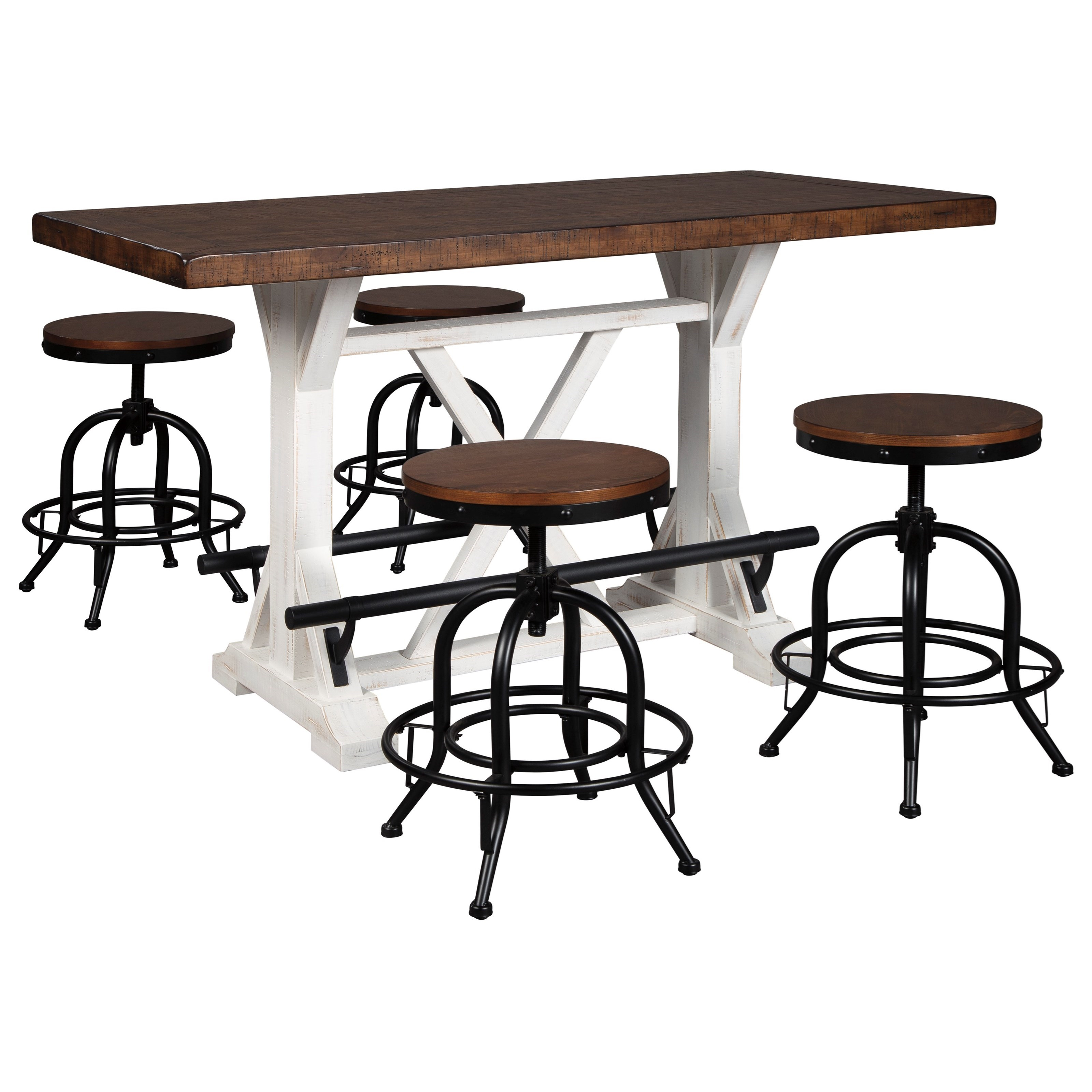 Valebeck 5-Piece Counter Height Dining Set by Signature Design by Ashley at Northeast Factory Direct
