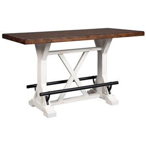 Rectangular Counter Height Dining Table with Two-Tone Finish