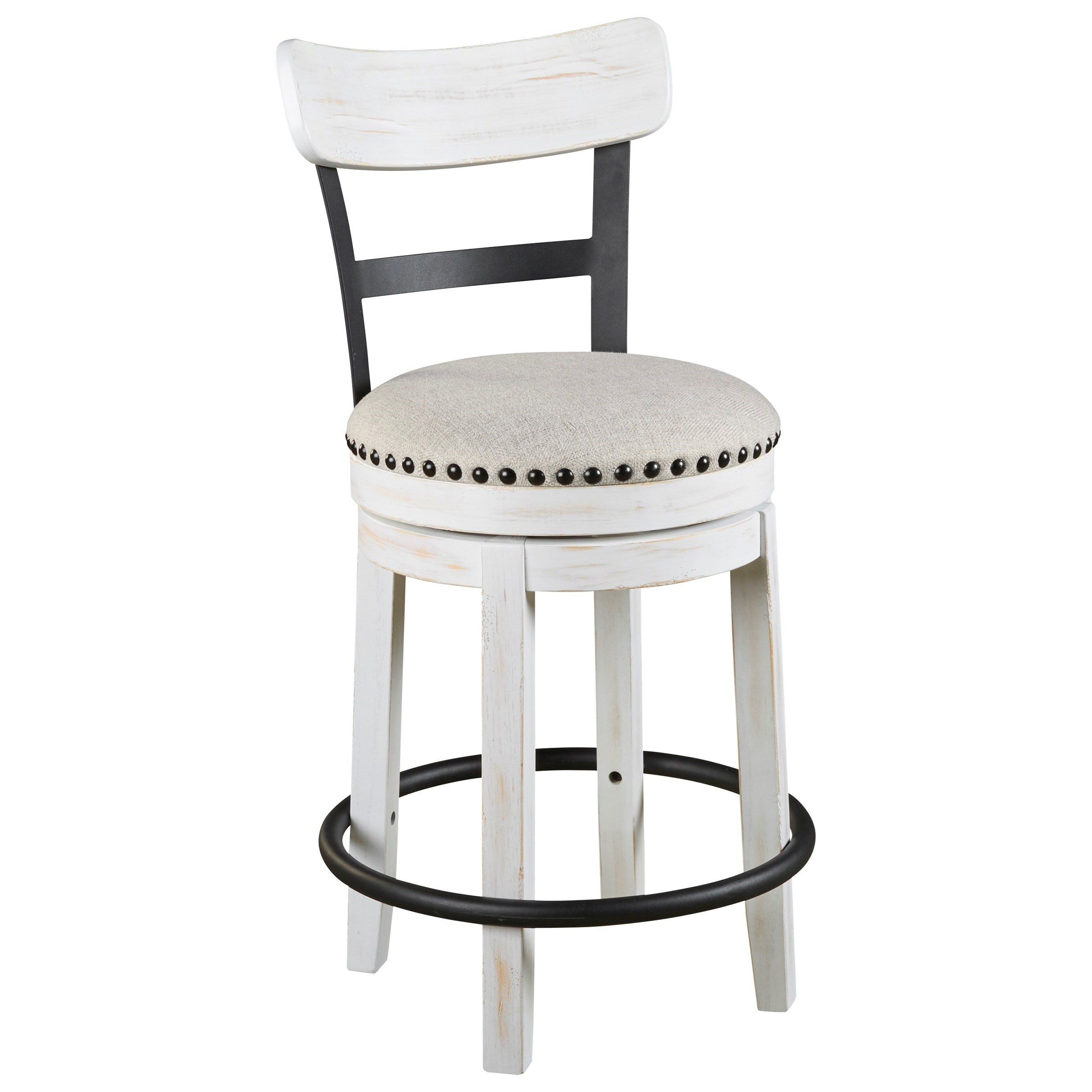 Valebeck Counter Height Swivel Barstool by Signature Design by Ashley at Beck's Furniture