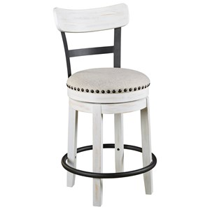 Counter Height Swivel Barstool with Upholstered Seat