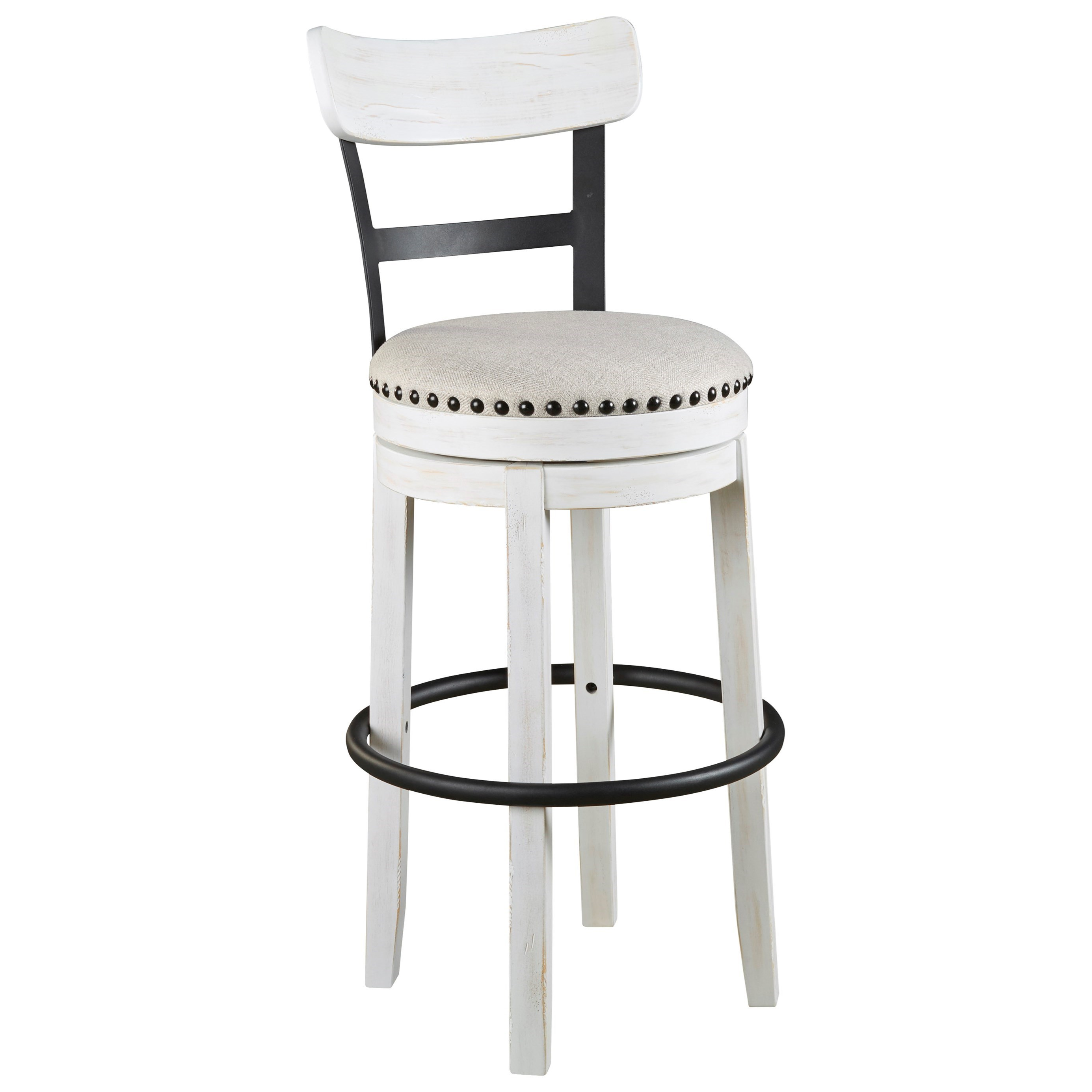 Valebeck Swivel Barstool by Signature Design by Ashley at Northeast Factory Direct