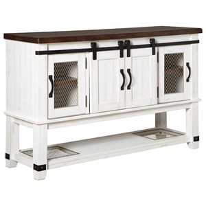 Dining Room Server with Sliding Barn Doors