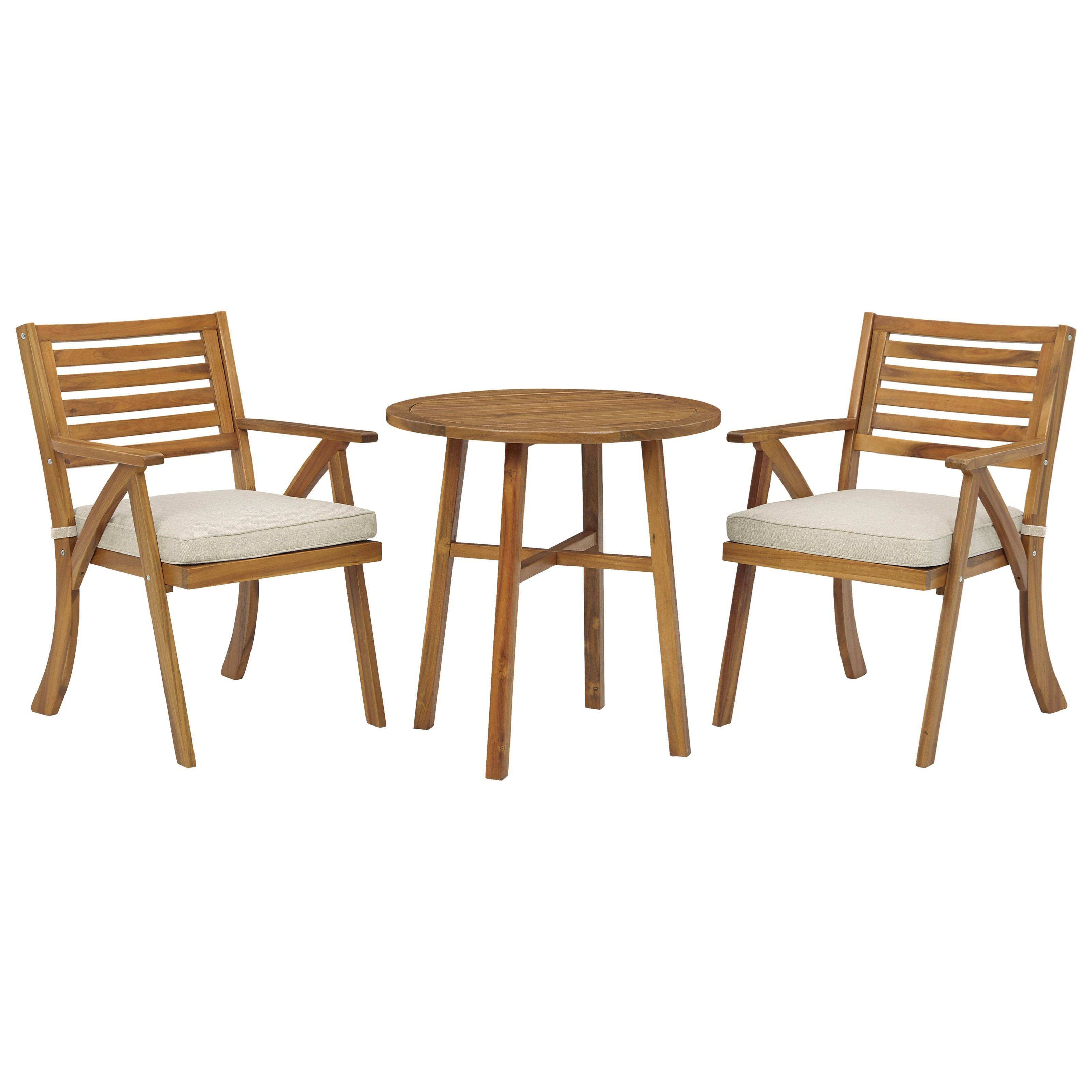 Vallerie 3-Piece Table & Chairs with Cushion Set by Ashley (Signature Design) at Johnny Janosik