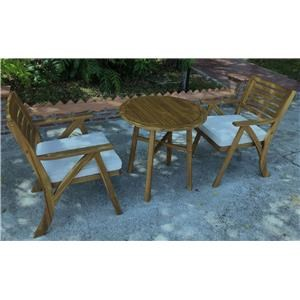 Table and 2 Chairs Bisto Set