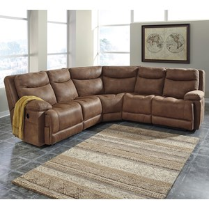 Signature Design by Ashley Valto 5-Piece Power Reclining Sectional