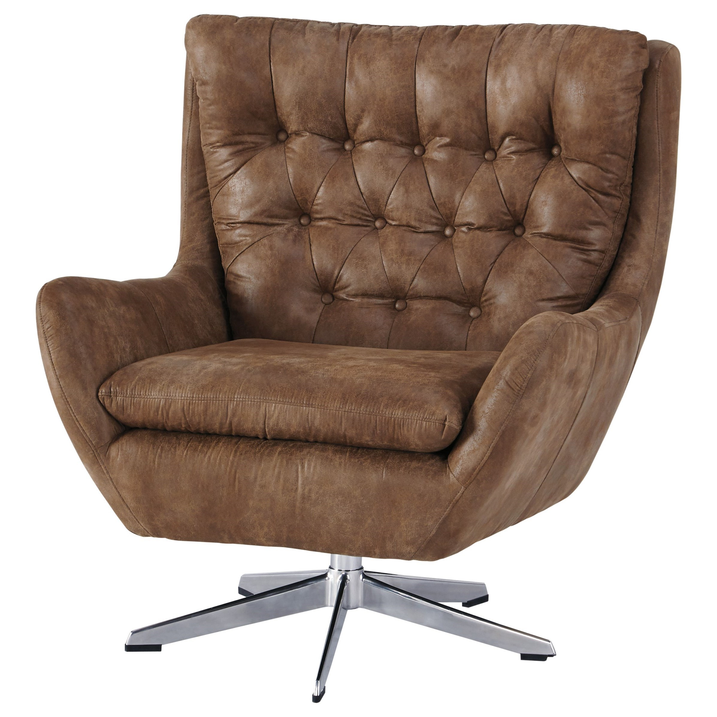 Velburg Swivel Base Accent Chair by Signature at Walker's Furniture