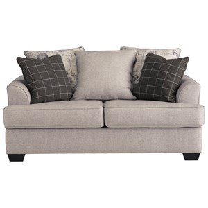 Relaxed Vintage Loveseat with 2 Decorative Pillows