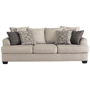 Relaxed Vintage Sofa with 4 Decorative Pillows