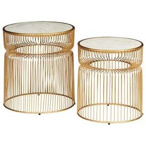 Contemporary Gold Accent Table Set