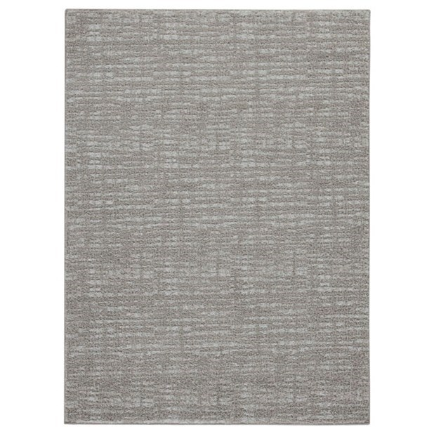 Casual Area Rugs Norris Taupe/White Large Rug by Signature Design by Ashley at Zak's Warehouse Clearance Center