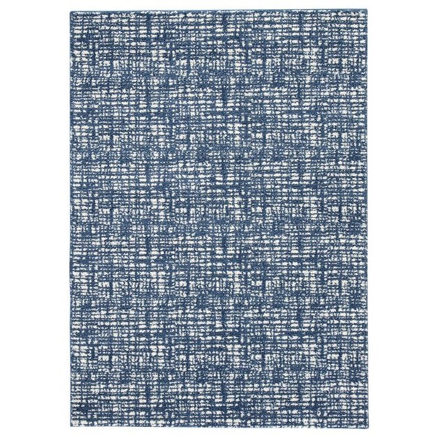 Casual Area Rugs Norris Blue/White Large Rug by Signature at Walker's Furniture