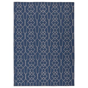 Signature Design by Ashley Casual Area Rugs Coulee Blue Large Rug
