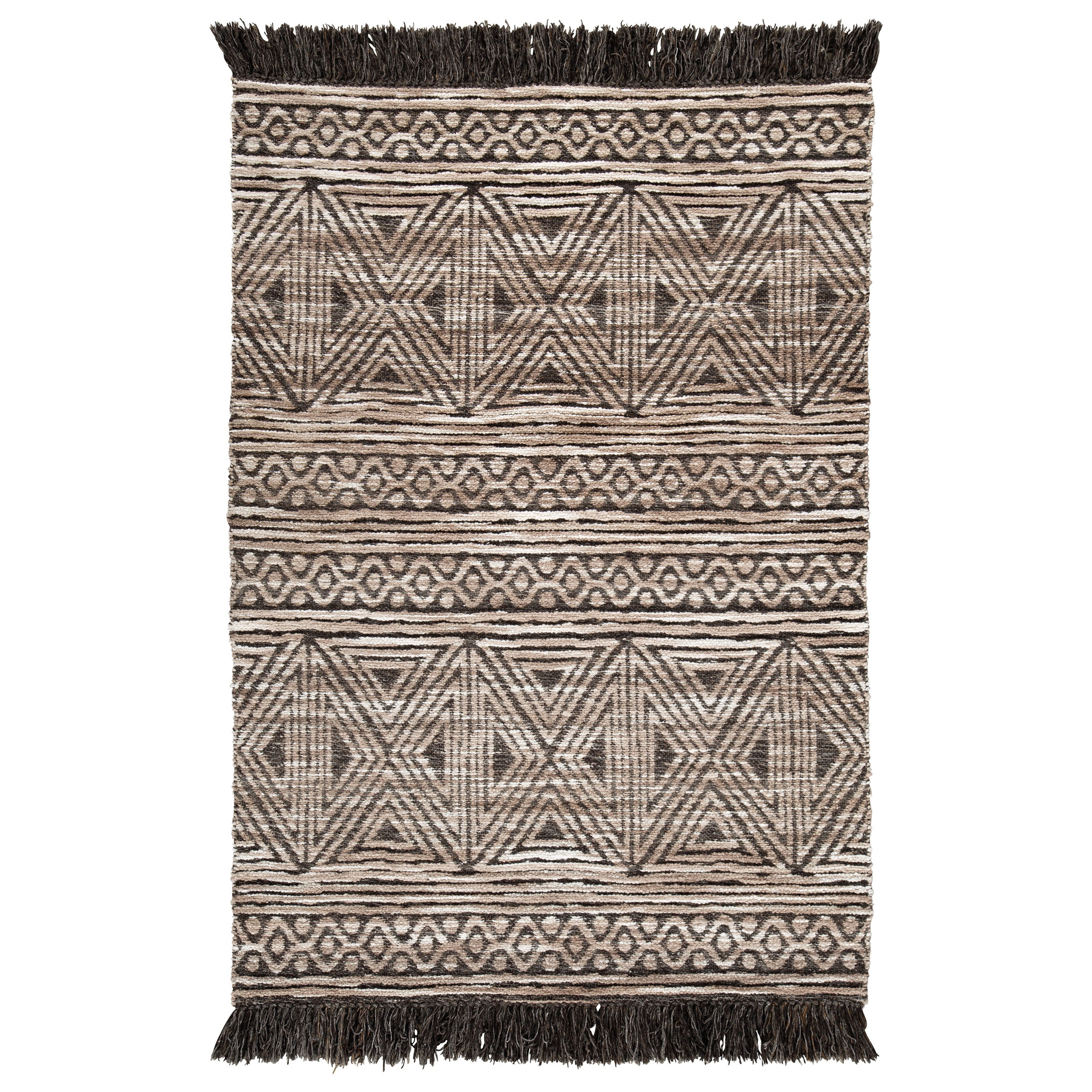Casual Area Rugs Kylin Taupe/Black Medium Rug by Signature Design by Ashley at Northeast Factory Direct