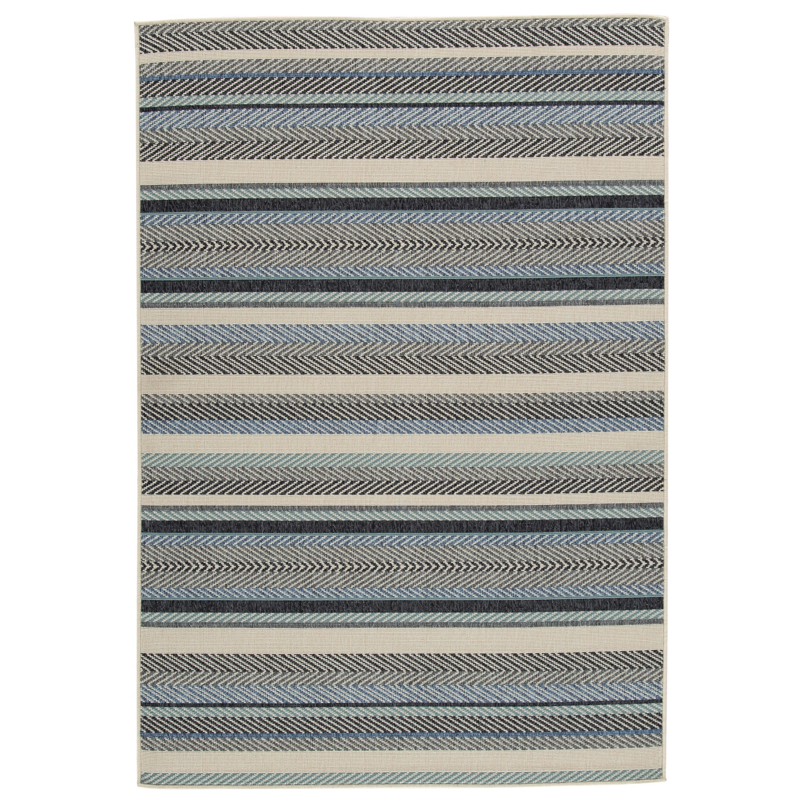 Casual Area Rugs Troost Blue/Cream Medium Rug by Signature at Walker's Furniture