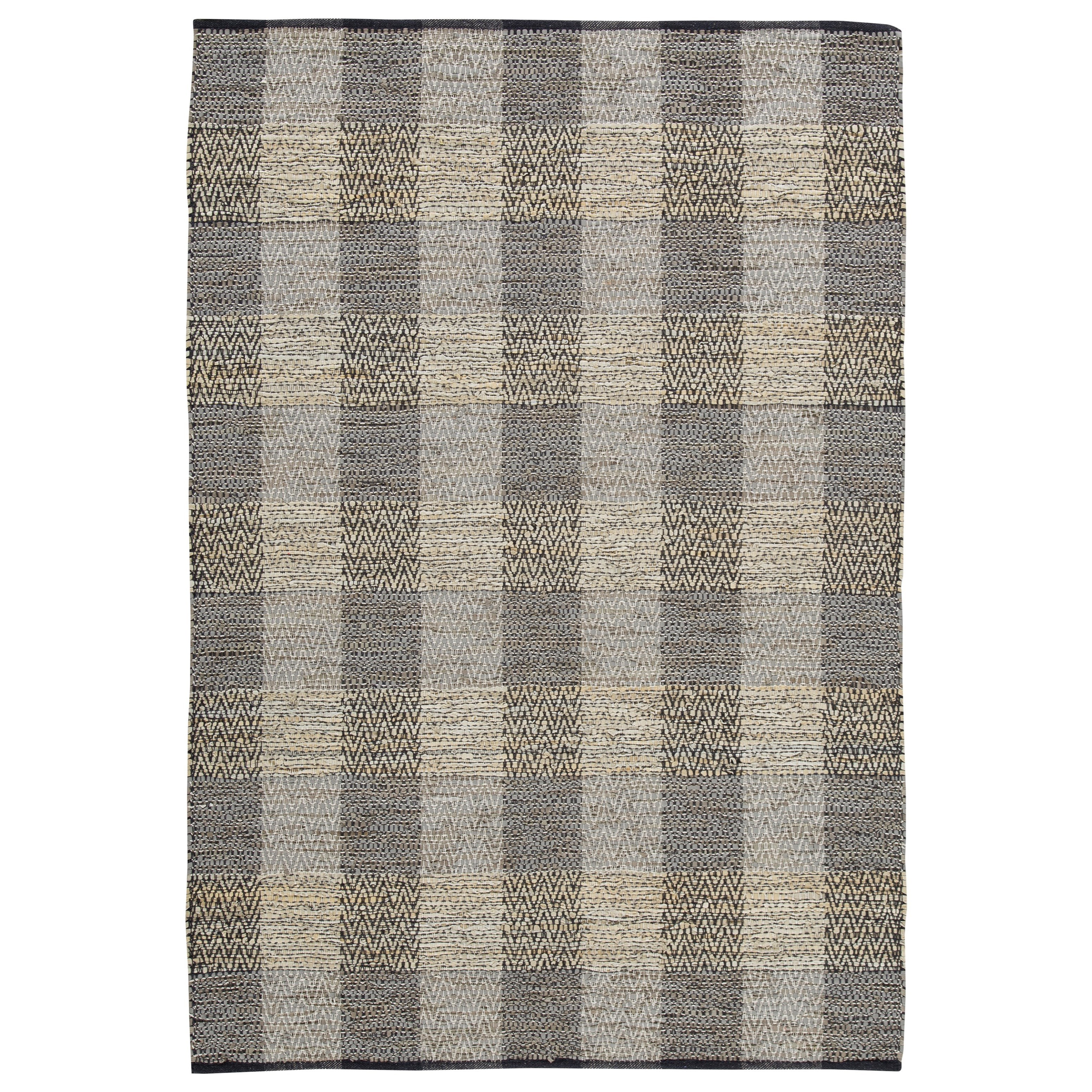 Casual Area Rugs Christoff Taupe/Black Medium Rug by Signature at Walker's Furniture