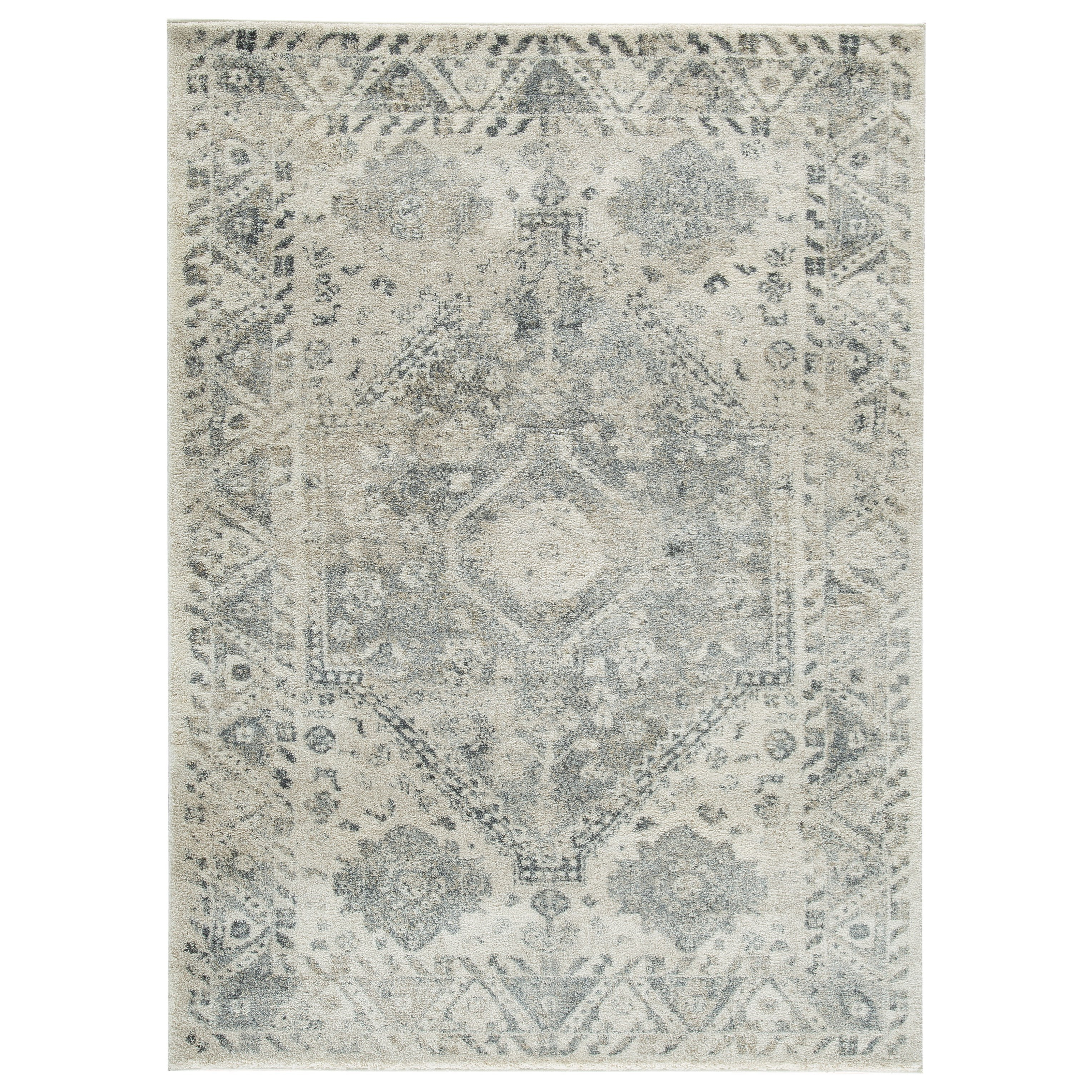 Casual Area Rugs Precia Gray/Cream Medium Rug by Signature Design by Ashley at Household Furniture