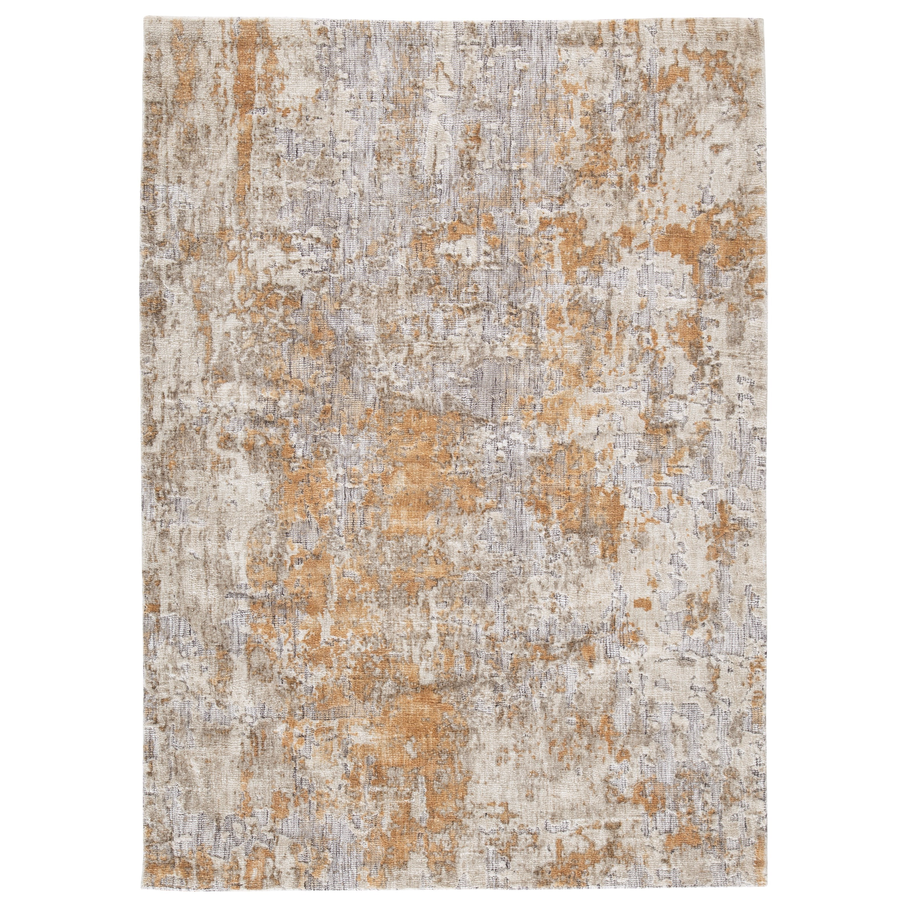 Casual Area Rugs Kamella Gray/Gold Large Rug by Signature at Walker's Furniture