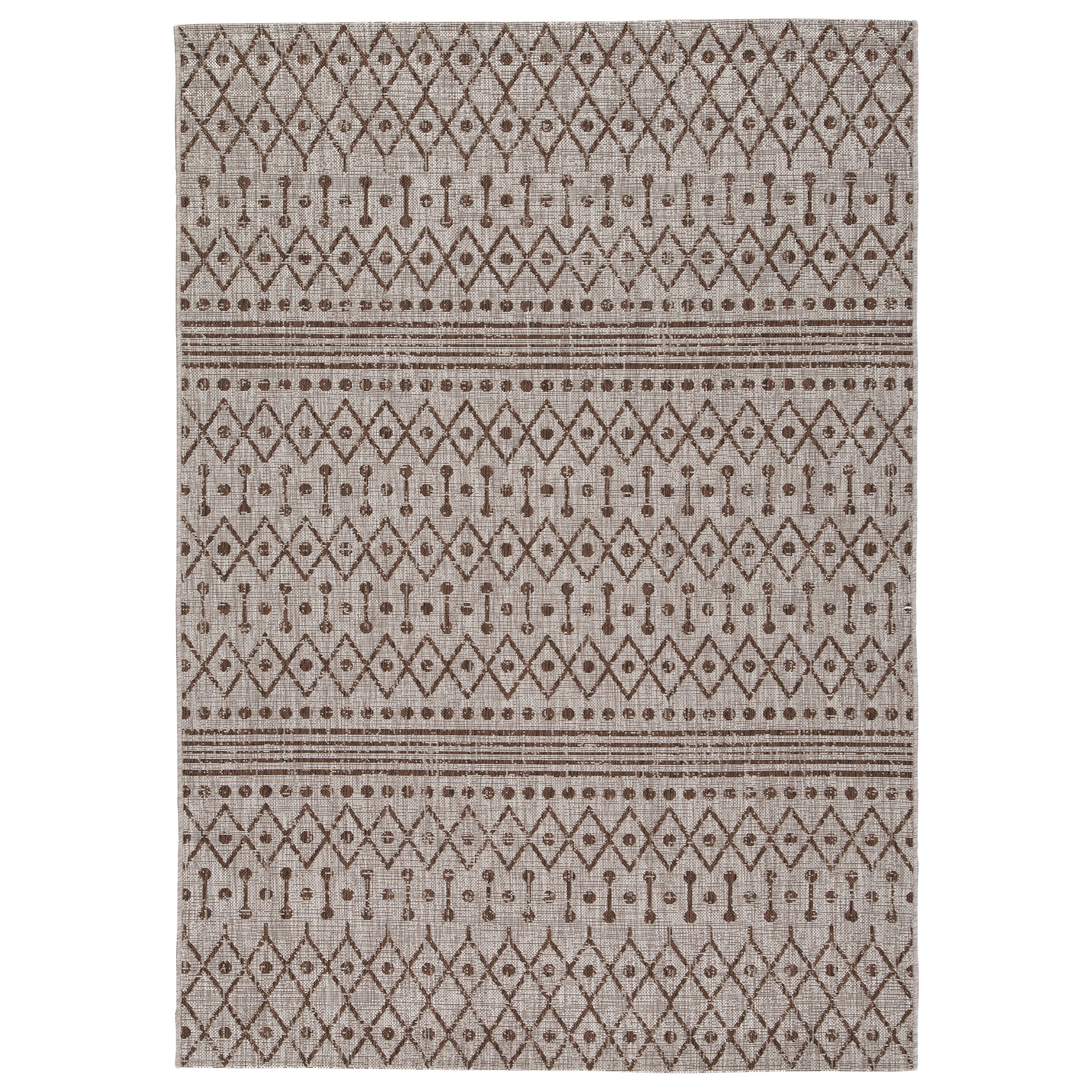 Casual Area Rugs Dubot Tan/Brown Indoor/Outdoor Large Rug by Signature Design by Ashley at Houston's Yuma Furniture