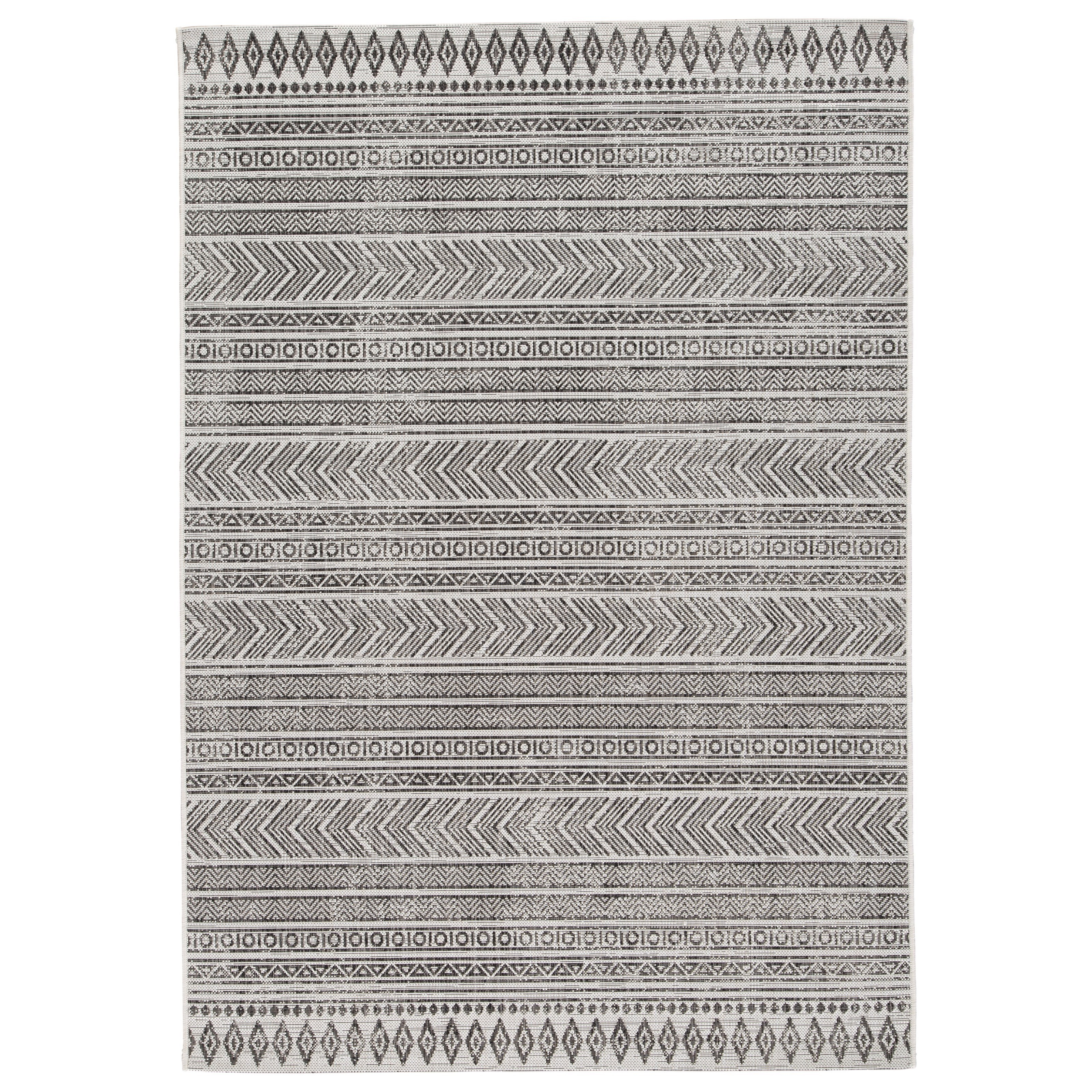 Casual Area Rugs Brinoy Black/White Indoor/Outdoor Large Rug by Signature Design by Ashley at Furniture Barn
