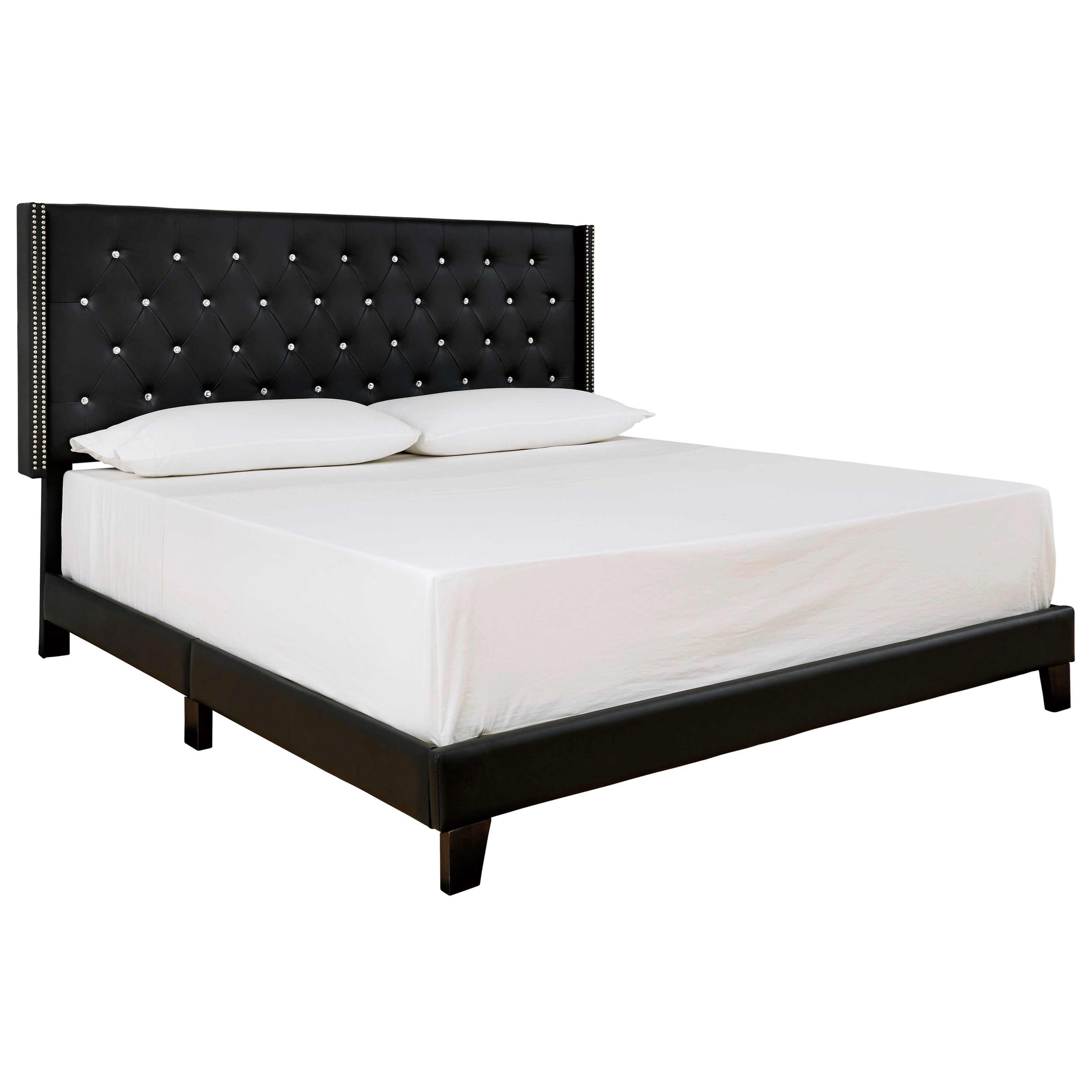 Vintasso King Upholstered Bed by Signature Design by Ashley at Smart Buy Furniture