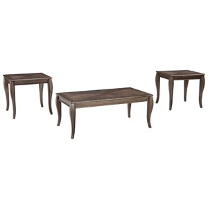 Occasional Table Set with Inlay Tabletop Design