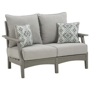 Loveseat with 2 Toss Pillows