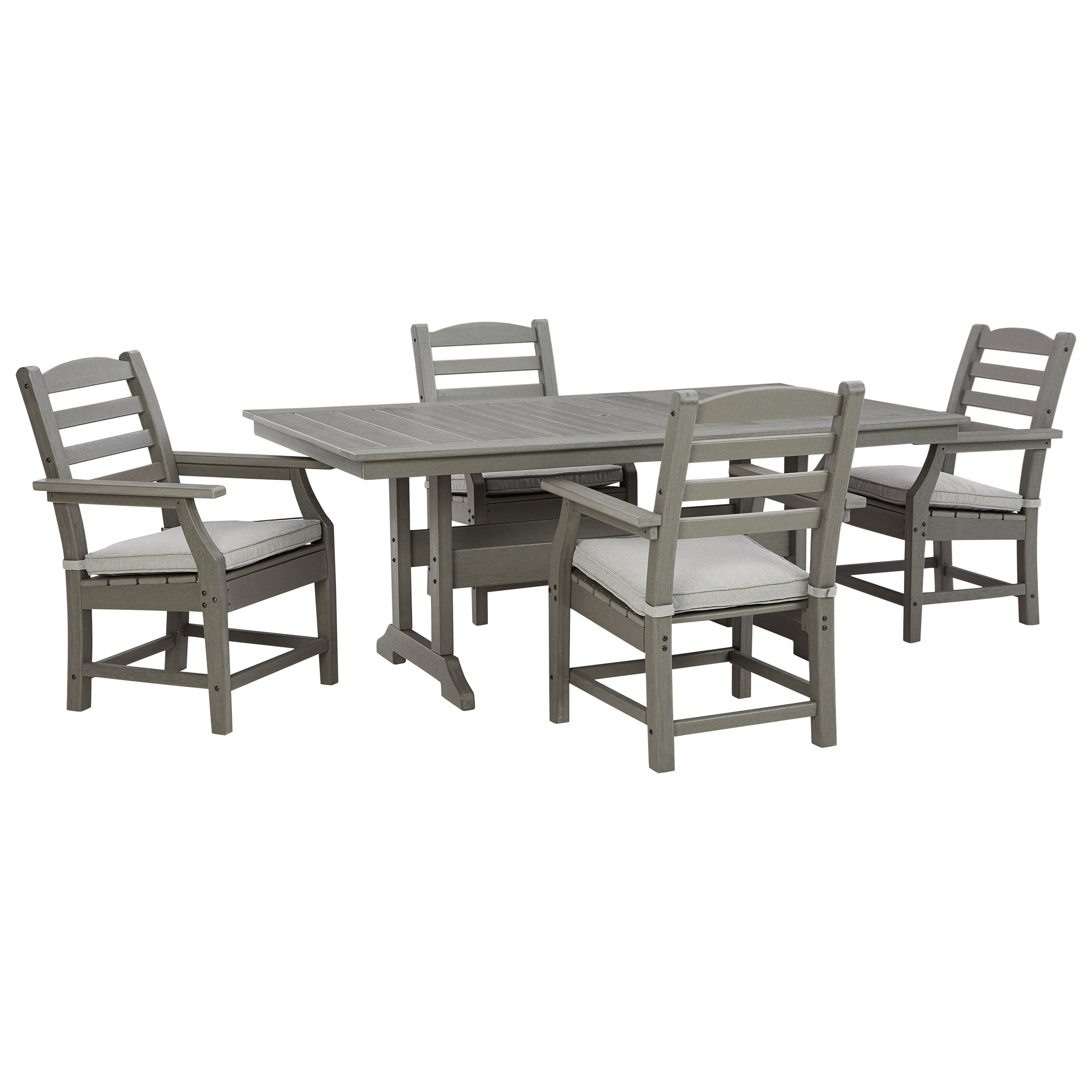 Visola 5-Piece Rectangular Table Set by Signature at Walker's Furniture